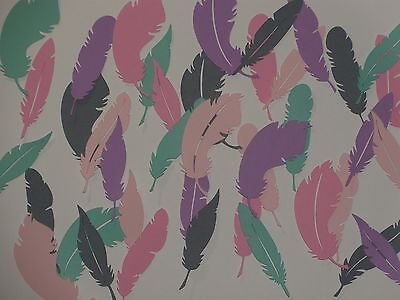 """40 feathers averaging almost 2 1/2"""" tall die cuts 5 shades of colors"""