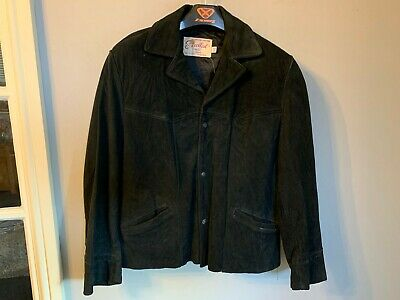 VINTAGE EXCELLED DISTRESSED SUEDE LEATHER JACKET SIZE 42 / UK M