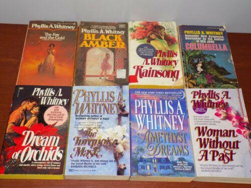 Lot of 8 Phyllis A. Whitney books PB Gothic Romantic Suspense