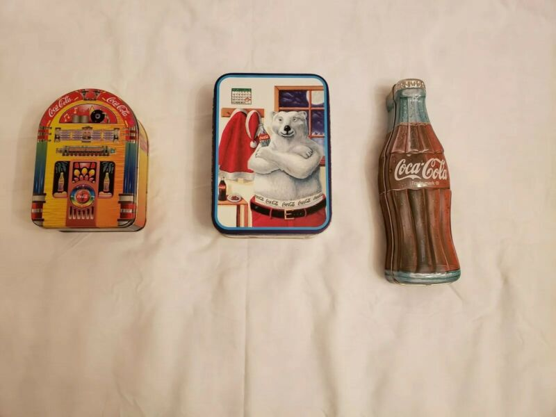 Vintage Coca-cola Collectable Tins Lot
