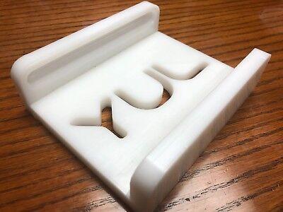 (JOGGING BLOCK PAPER CUTTER 1 3/4 INCH/45mm HIGH PLASTIC HDPE WHITE BLOC TAQUAGE)
