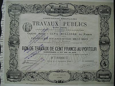 Travaux Publics  Paris  1880      HOCHDEKO