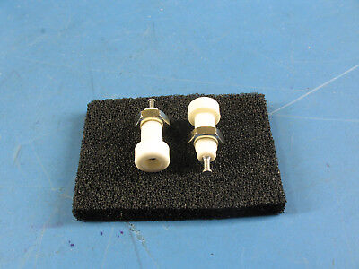 2pcs White Insulated Panel Mount Test Lead Pin Jacks Test Points Whardware