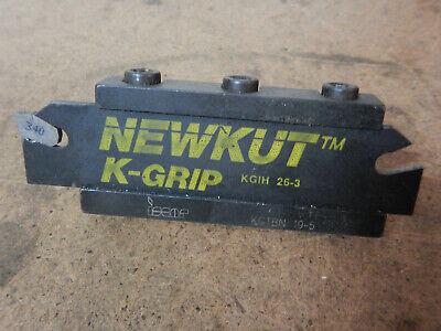 Iscar Kgtbn 19-5 Groove Tool Holder With Newkut K Grip Blade Metal Lathe Tool