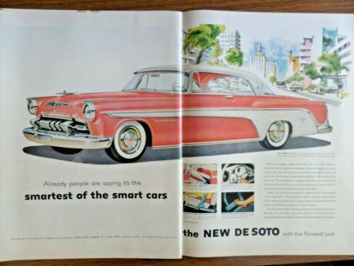 1955 DeSoto Fireflite Coupe Ad Smartest of the Smart Cars