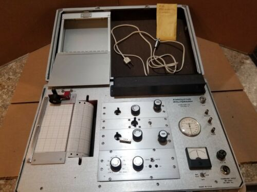 Vintage STOELTING Ultra Scribe Polygraph Lie Detector Test Machine Used 1970