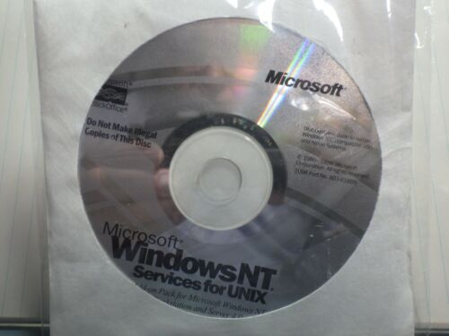 Microsoft Windows NT Services for Unix  w/ CD Key (Sealed/Unused)