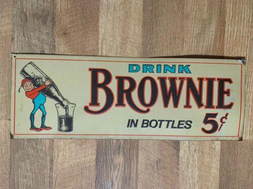 Drink Brownie in Bottles 5 Cent Soda Pop Sign