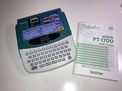 Brother P-touch Pt-1700 Label Maker Printer Uses Tz Tape Full Size Keyboard