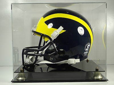 - Football helmet NCAA college acrylic full size memorabilia display case 85% UV