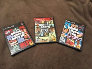 3 GTA GAMES FOR PS2