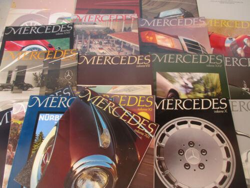 Mercedes Magazine Vintage Big Lot Luxury Car Mercedes Benz German 1980s