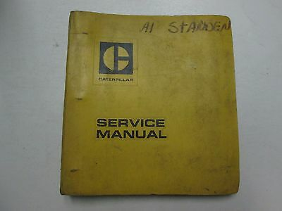 Caterpillar 950 Wheel Loader Powertrain 4 Cy Engine Binder Service Manual Stains