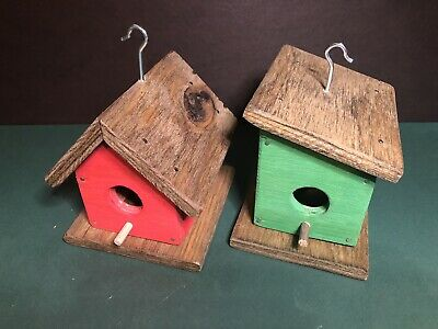 10 BLUEBIRD BIRD HOUSES NEST BOX CEDAR  PETERSON OVAL OPENING HANDMADE  FREE S//H