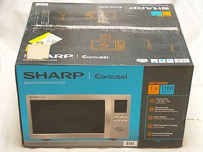 Sharp SMC1655BS  - 1.6 Cu. Ft. Family-Size 1100 Watts Stainless Steel Microwave