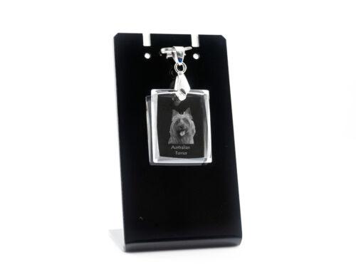 Australian Terrier, Dog Crystal Necklace, High Quality, Crystal Animals CA