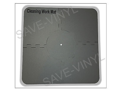 """Record Cleaning Station Mat for LP 12"""" Vinyl Album spindle securely holds record"""
