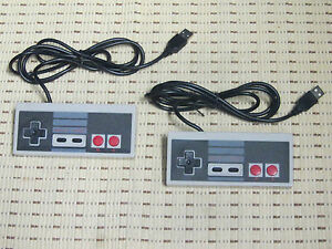 2x USB Nintendo Controller Gamepad Joypad NES Design für PC MAC Computer *NEU*