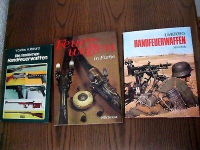 Konvolut 3 Bücher Handfeuerwaffen / Feuerwaffen in Farbe/ Cadiou Richard/ Weeks