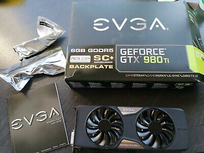 Evga 980 Ti Sc+superclocked Acx 2.0+ Backplate