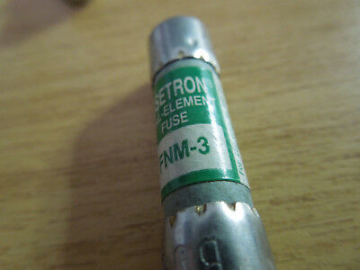 BUSSMANN TRON Daul Element Fuse FNM-3 250v or less.