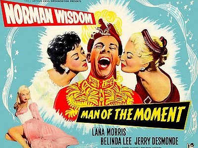 "Man of the Moment Norman Wisdom 16"" x 12"" Reproduction Movie Poster Photograph"