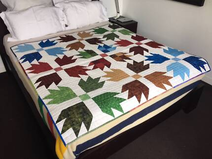 Arrow Design Patchwork Quilt - Handcrafted Locally