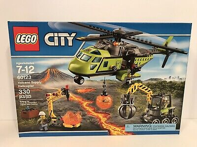 LEGO City VOLCANO SUPPLY HELICOPTER 60123 NEW Retired