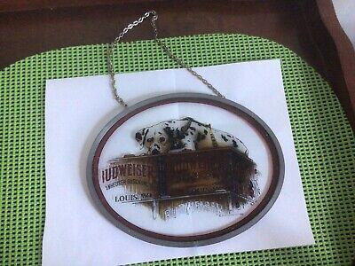 VTG 1994 BUDWEISER BEER ANHEUSER BUSCH - oval Glass Advertising wall Sign