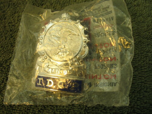 IDCP Hat Badge Illinois Department Conservation Police NOS