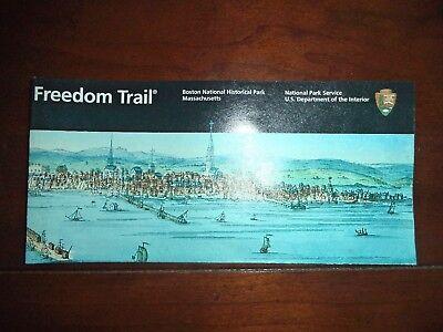 FREEDOM TRAIL Boston Natioinal Park Brochure!  Boston, MA