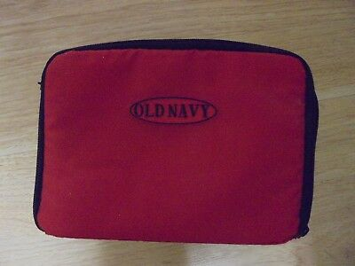 Red Old Navy Vinyl Storage Carry Case 9x5 ()