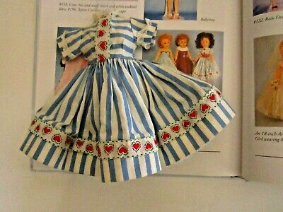 Arranbee R&B Coty Girl Blue & White Striped Ribbon Heart Trim #133 Fits LMR