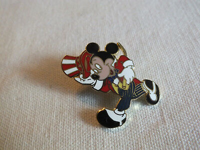 Brooch Pin Gold Tone MIKEY MOUSE Colorful Enamel Signed DISNEY 1 1/2 x 1