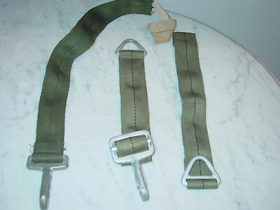 Military Parachute Harness D Clips & Strap!