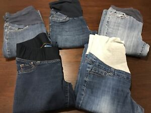 5 pairs of maternity jeans