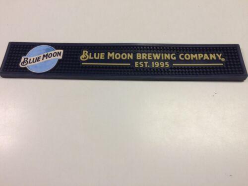 BLUE MOON Brewing Company Bar Rail Spill Runner Mat 3.5 X 21 PVC RUBBER