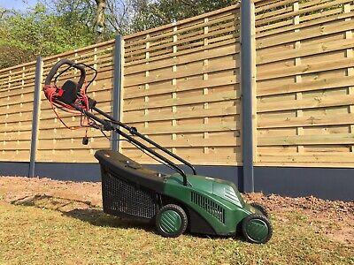 ATCO RICHMOND 32 Inch Rotary Roller Corded Electric Push Grass Garden Lawn Mower