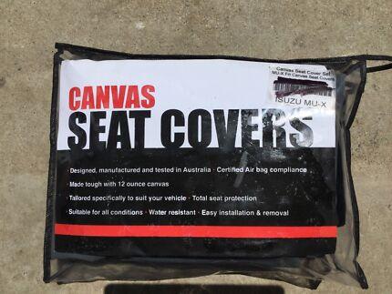 Canvas seat covers isuzu mu-x new ,