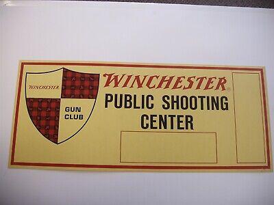 Original Winchester Gun Club Public Shooting Center cardboard display sign