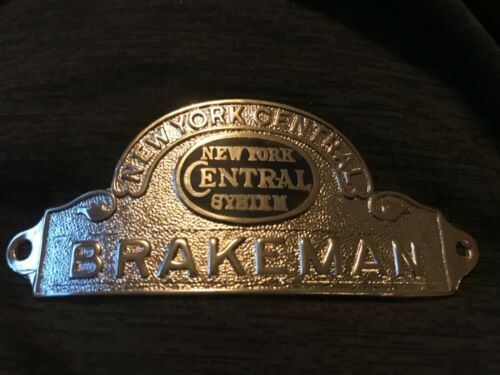 Vintage Brakeman Hat Badge New York Central System Emblem Railroad Train NYC
