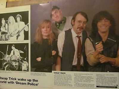 Cheap Trick, Two Page Vintage Clipping