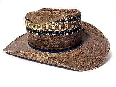 Child's Cowboy Cowgirl Hat Vintage Texas Hats Western Black Brown Straw Costume