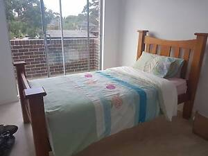 Solid Timber King Single Bed + Mattress Revesby Bankstown Area Preview