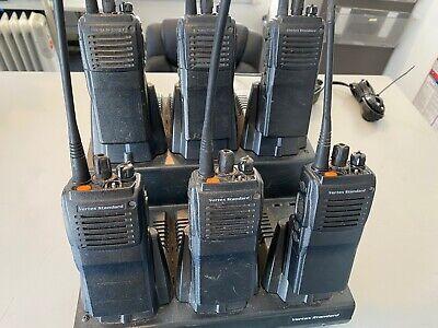 6 Vertex Vx-921-g7-5 Uhf 48 Ch Portable Radios With Six Unit Charger