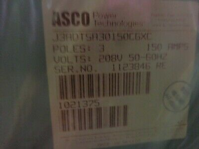 Brand New In Box Asco 150a 3p 208v Auto. Transfer Switch Cat. J3adtsa30150cgxc