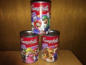 Collectible Cans with Mario Characters on Them