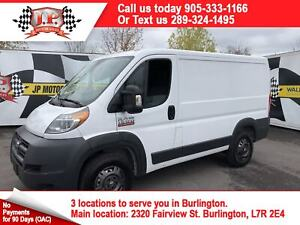 2015 Ram Promaster Low Roof, Navigation, 93,000km