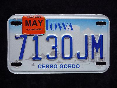 +++ IOWA - USA Motorrad Kennzeichen +++ Original - Sticker 2006 - Top !