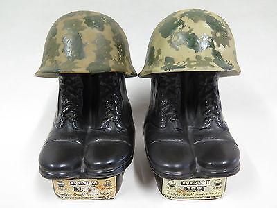 2x Jim Beam Whiskey Bottle - US Army Vietnam Decanter - leer für Whisky Sammler
